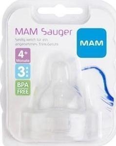 Εικόνα της MAM Θηλή Σιλικόνης, Μεγάλη Ροή - Μέγεθος 3, 4+ Μηνών 2 τεμ.