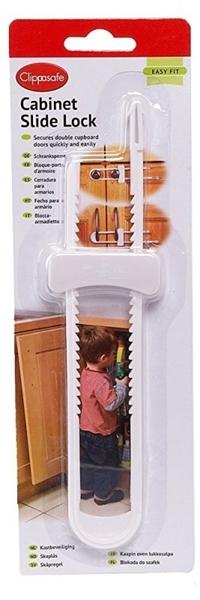 Picture of Clippasafe Cabinet Slide Lock Ασφάλεια Δίφυλλων Ντουλαπιών