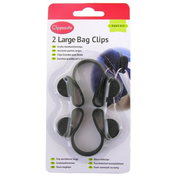 Picture of Clippasafe Large Bag Clips - Γάντζος για Τσάντες 2 τεμ.
