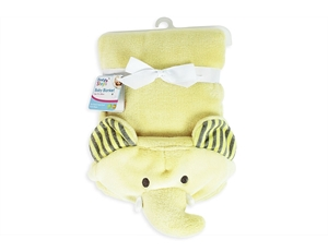 Εικόνα της First Steps Κουβέρτα Αγκαλιάς με Κουκούλα Κίτρινος Ελέφαντας