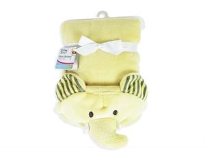 Picture of First Steps Κουβέρτα Αγκαλιάς με Κουκούλα Κίτρινος Ελέφαντας
