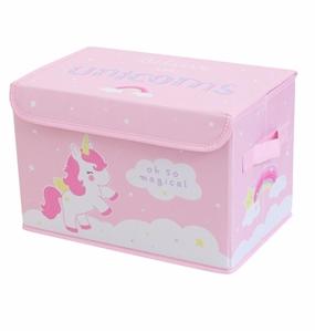 Εικόνα της A Little Lovely Company Κουτί Αποθήκευσης Unicorns