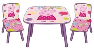Εικόνα της Arditex Ξύλινο Τραπέζι με την Peppa και 2 Καρέκλες