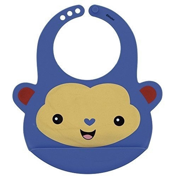 Picture of Fisher Price Σαλιάρα Σιλικόνης Blue Monkey