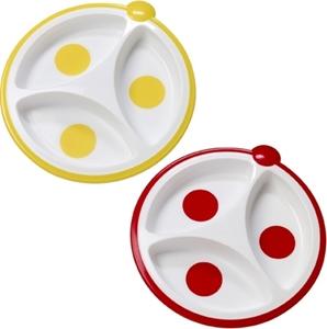 Εικόνα της Dr. Brown's Πιάτο 3 Μερίδων Κίτρινο/Κόκκινο, 2τμχ