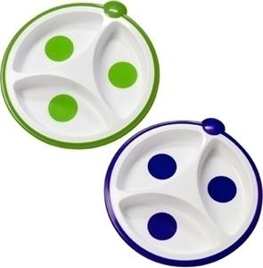 Εικόνα της Dr. Browns Πιάτο 3 Μερίδων Πράσινο/Μωβ, 2τμχ