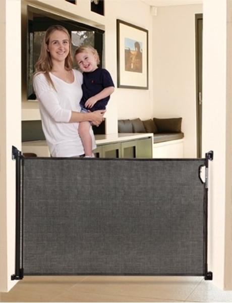 Picture of DreamBaby Αφαιρούμενη Πόρτα Ασφαλείας Retractable Gate Black