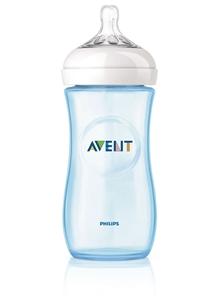 Εικόνα της Philips Avent Natural, Πλαστικό Μπιμπερό Μπλε με Θηλή Μέτριας Ροής 330ml