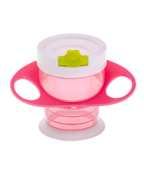 Picture of Brother Max Easy Hold Sippy Cup – Εκπαιδευτικό Ποτηράκι 4 σε 1 Pink