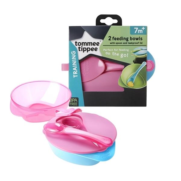 Picture of Tommee Tippee Easy Scoop Weaning Bowl Σετ - 2 τεμ. Μπωλ Απογαλακτισμού Ροζ