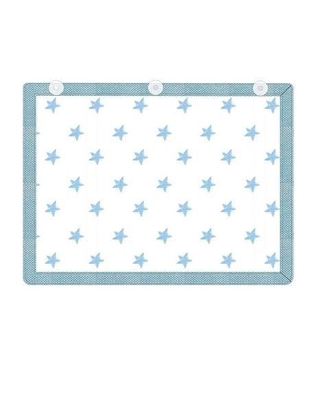 Picture of Minene Υφασμάτινες Ηλιοπροστασίες Αυτοκινήτου με UV προστασία, Blue Stars
