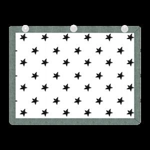 Picture of Minene Υφασμάτινες Ηλιοπροστασίες Αυτοκινήτου με UV προστασία, Black Stars