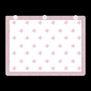 Εικόνα της Minene Υφασμάτινες Ηλιοπροστασίες Αυτοκινήτου με UV προστασία, Pink Stars