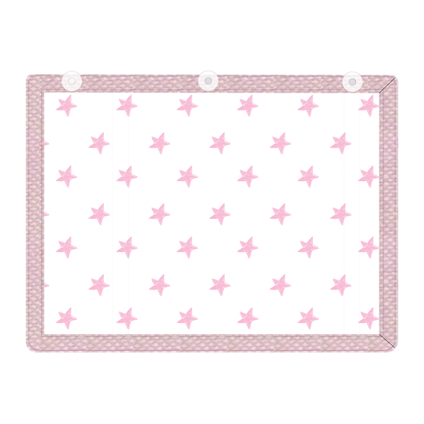 Picture of Minene Υφασμάτινες Ηλιοπροστασίες Αυτοκινήτου με UV προστασία, Pink Stars