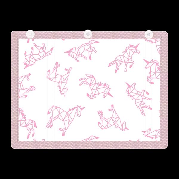 Picture of Minene Υφασμάτινες Ηλιοπροστασίες Αυτοκινήτου με UV προστασία, Pink Horse