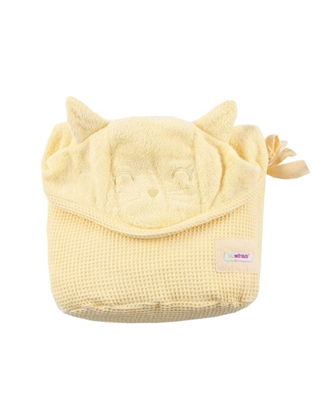 Picture of Minene Πετσέτα με Κουκούλα 2 σε 1 XL, Yellow Cat