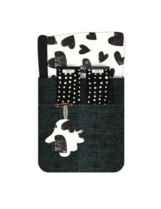 Εικόνα της Minene Κάλυμμα Καροτσιού με Επωμίδες Ασπρόμαυρες Καρδούλες