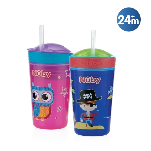 Picture of Nuby Drink & Snack Cup 270ml Pink