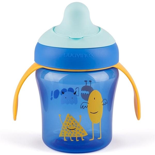 Picture of Suavinex εκπαιδευτικό κύπελλο 200 ml Learning Cup Βοο! Blue 6M+