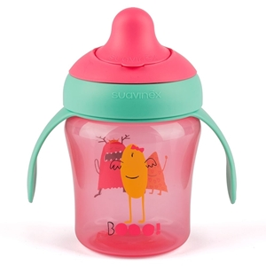 Picture of Suavinex εκπαιδευτικό κύπελλο 200 ml Learning Cup Βοο! Pink 6M+