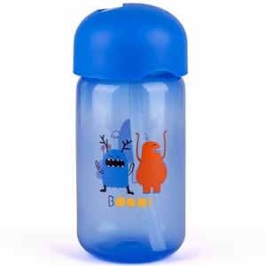 Εικόνα της Suavinex Παγούρι με Καλαμάκι Σιλικόνης Booo! 340ml. Blue