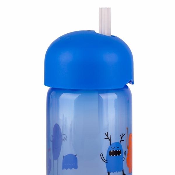Picture of Suavinex Παγούρι με Καλαμάκι Σιλικόνης Booo! 340ml. Blue