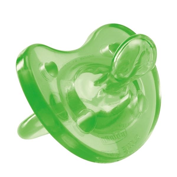 Picture of Chicco Πιπίλα Physio Soft, Όλο σιλικόνη Πράσινη, 12m+ 1τμχ