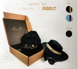 """Εικόνα της KiETLA Σετ Καπέλo + Γυαλιά """"Soleil de Minuit"""" 3-6 ετών Limited edition Kit με δώρο μια τσάντα"""