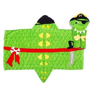 Εικόνα της Παιδική πετσέτα με κουκούλα, Alligator