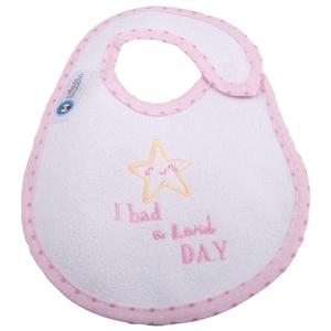 Εικόνα της Σαλιάρα Μεγάλη Πλαστικοποιημένης Πετσέτας, Hard Day Ροζ