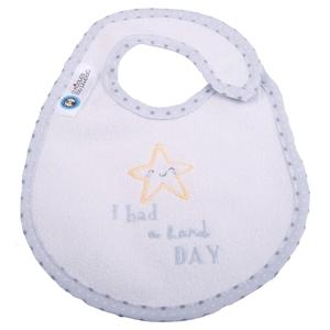 Εικόνα της Σαλιάρα Μεγάλη Πλαστικοποιημένης Πετσέτας, Hard Day Γκρι