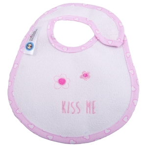 Εικόνα της Σαλιάρα Μεγάλη Πλαστικοποιημένης Πετσέτας, Kiss Me Pink