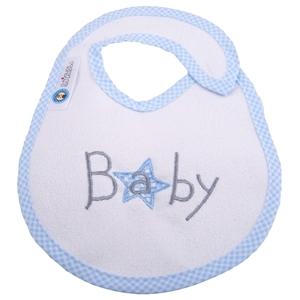 Εικόνα της Σαλιάρα Μεγάλη Πλαστικοποιημένης Πετσέτας, Baby Star Blue