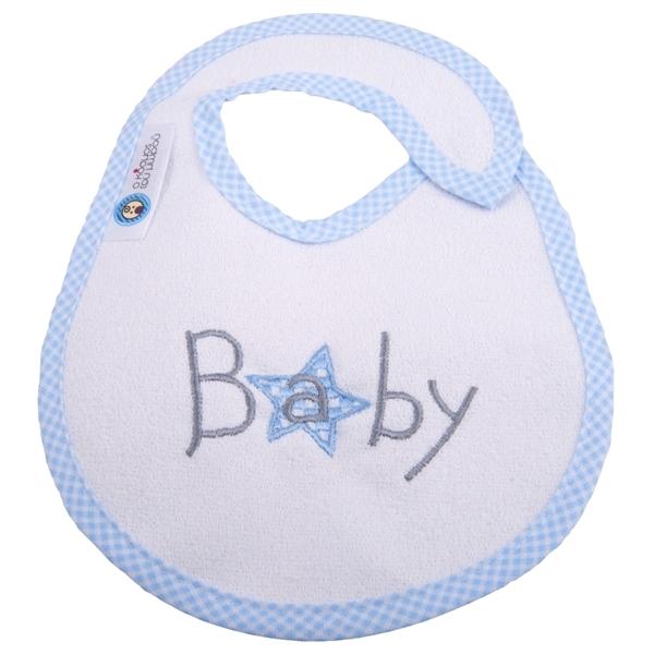 Picture of Σαλιάρα Μεγάλη Πλαστικοποιημένης Πετσέτας, Baby Star Blue