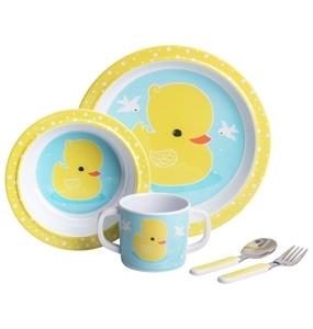 Εικόνα της A Little Lovely Company Σετ Φαγητού, Yellow Duck