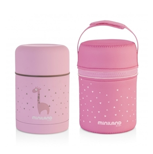 Picture of Miniland Ανοξείδωτος Θερμός Φαγητού Silky Food Thermos Pink 600ml.