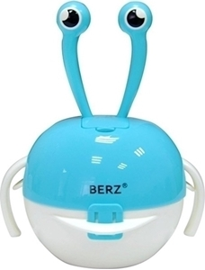 Picture of Berz Βρεφικό Σετ Μπολ Φαγητού 5 σε 1, Blue Crab