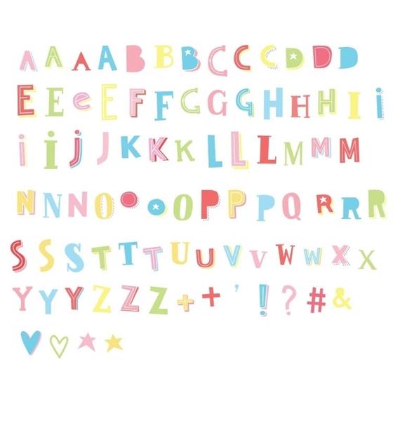 Picture of Σετ γράμματα & σύμβολα για το Lightbox, Funky Colour
