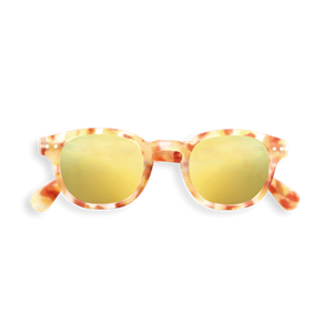 Picture of IZIPIZI Γυαλιά Ηλίου Sun Junior, 5 - 10 Ετών #C Yellow Tortoise Mirror