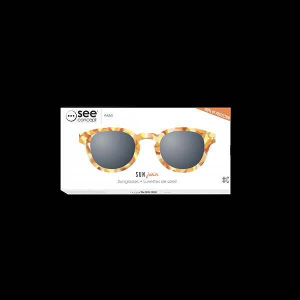 Picture of IZIPIZI Γυαλιά Ηλίου Sun Junior, 5 - 10 Ετών #C Yellow Tortoise
