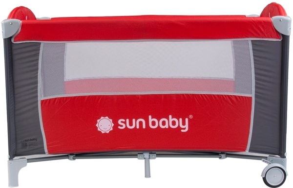 Picture of SunBaby Παρκοκρέβατο Sweet Dreams, Red