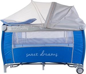 Εικόνα της SunBaby Παρκοκρέβατο με 2ο Επίπεδο Sweet Dreams, Blue