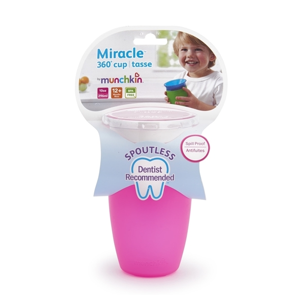 Picture of Munchkin Παιδικό Κύπελλο Miracle Sippy 12m+, 296ml, Ροζ