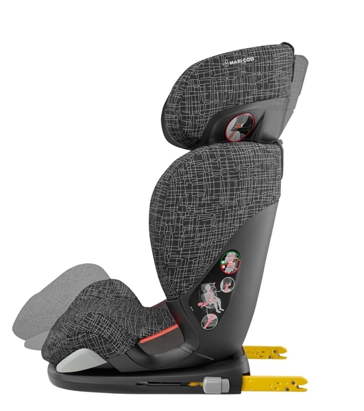 Picture of Maxi Cosi Κάθισμα Αυτοκινήτου Rodi Fix Air Protect, Black Grid 15-36kg