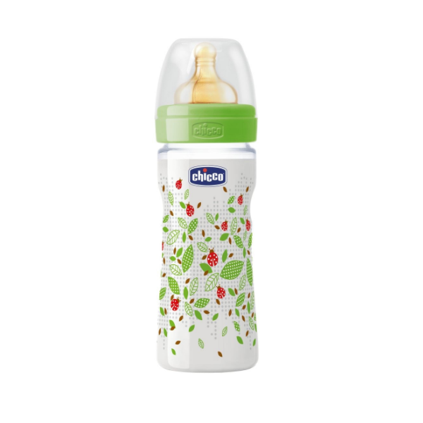 Picture of Chicco Well Being, Πλαστικό Mπιμπερό, Θηλή Καουτσούκ, 250ml