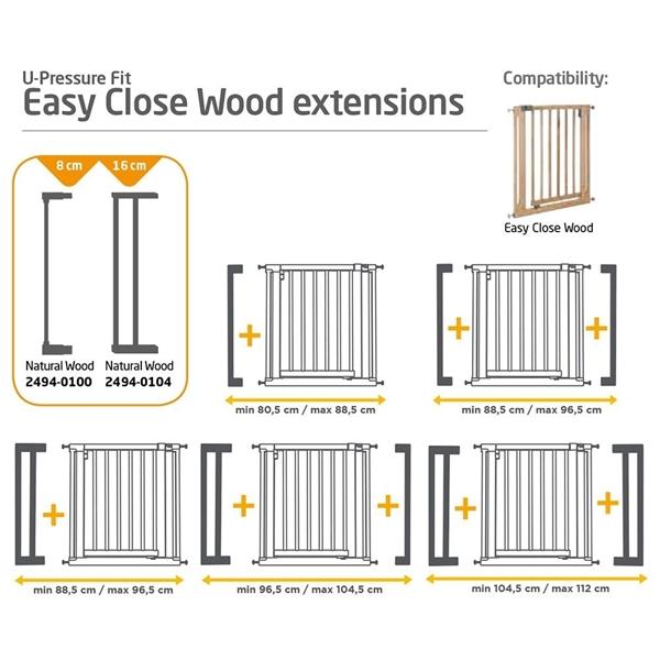 Picture of Safety 1st Προέκταση 8cm για Πόρτα Ασφαλείας Easy Close Wood