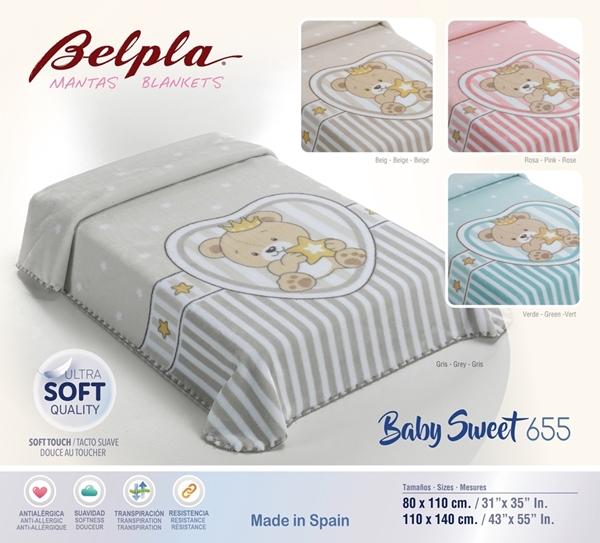 Picture of Belpla Κουβέρτα Βελουτέ Πολυεστερική 110x140 Bear