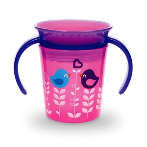 Picture of Munchkin Ποτηράκι Miracle Deco Trainer 177ml. Pink Birds
