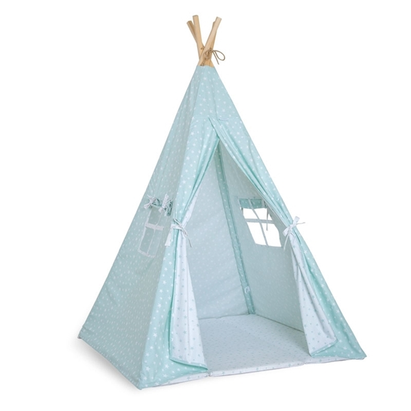Picture of FunnaBaby Παιδική σκηνή Tepee Aqua Mint