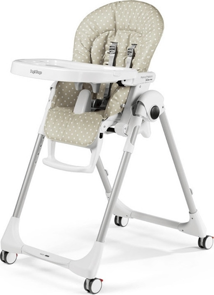 Picture of Peg Perego Κάθισμα Φαγητού Prima Pappa Follow Me, BabyDot Beige + ΔΩΡΟ μπάρα παιχνιδιών
